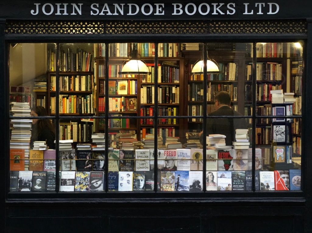 Devanture de librairie
