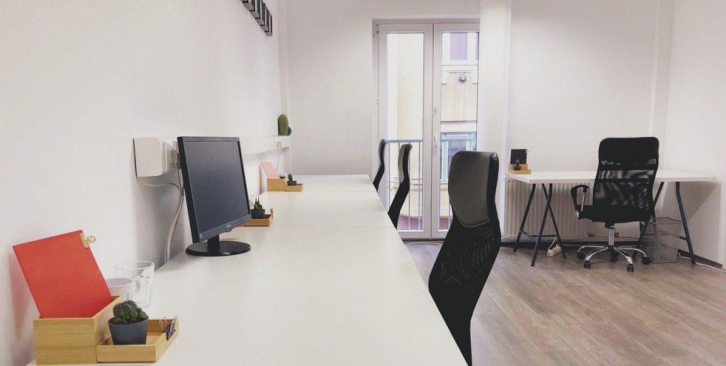 Espace de travail dans une entreprise