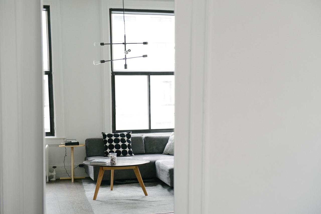 Pièce de vie dans un appartement